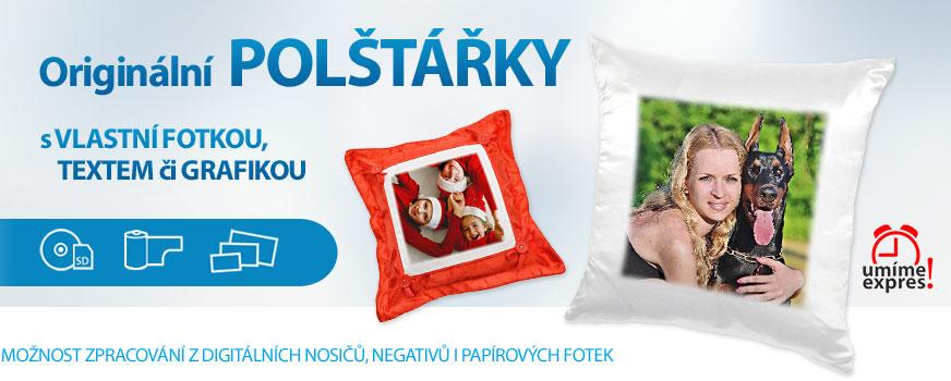 Fotopolštářky objednávejte online nebo na prodejnách v Brně a Praze