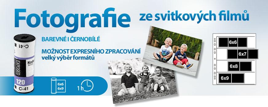 Na našich prodejnách  Brně a Praze zvětšíte vaše svitkové filmy klasickou chemickou cestou.