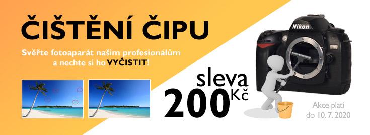 Sleva na čištění čipu digitálních fotoaparátů na prodejnách v Brně.