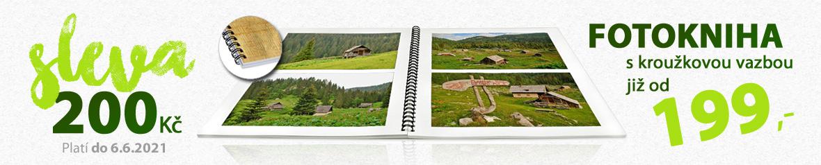 Kroužková kniha z vašich fotek v akci