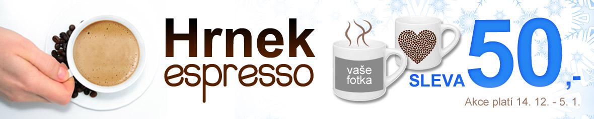 Akce na hrnek espresso potisknutý fotkou